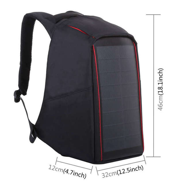 12W Flexible Solar Panel Power Backpack 1