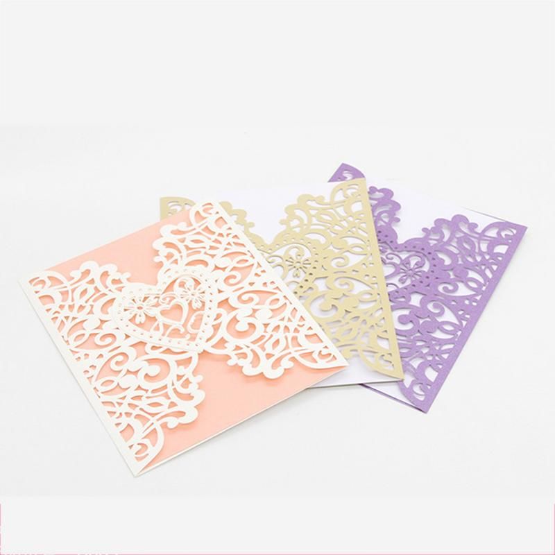 10PCS/set  European Style Hollow-out Wedding Personalized Invitations Innovative Card Birthday high quality