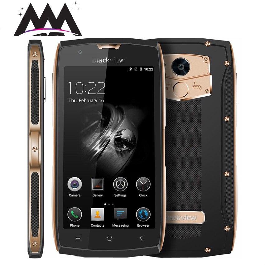 Original Blackview BV7000 IP68 étanche antichoc Smartphone Android 7.0 MTK6737T Quad Core 4G LTE 5.0