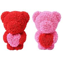 Creative  Soap Rose Flower Love Heart Bear Scented Foam Wedding Party Decoration Valentine Day Gift Bath Fragrance