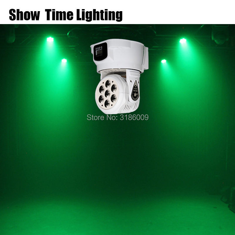 Hot Sale Mini LED 7*10W RGBW 4 In 1 Moving Head Light Wash Effect For Stage DJ Bar Club Disco Home Entertain Wash Background