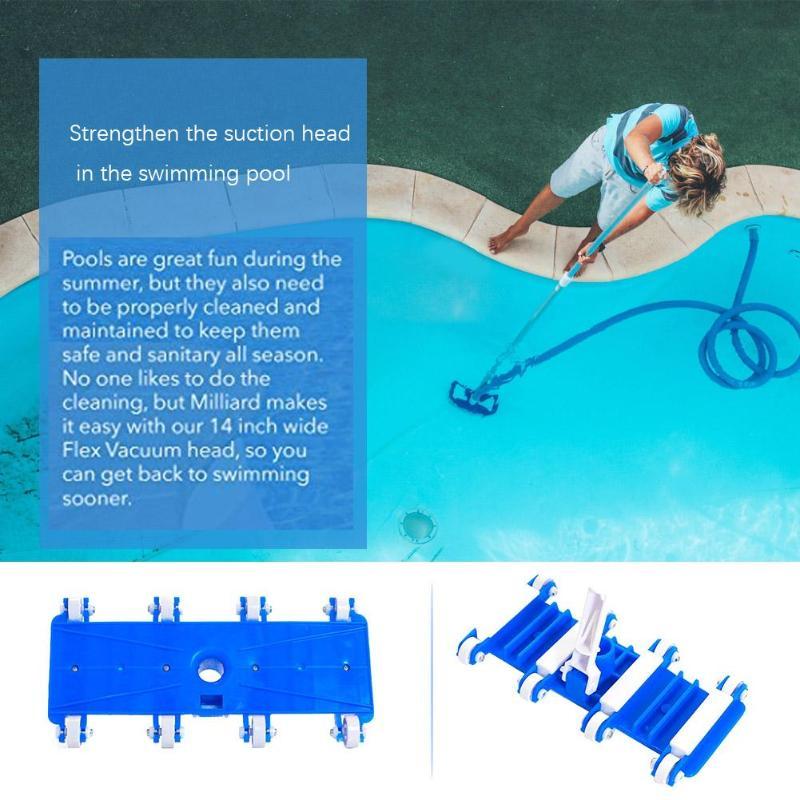 14/'/' Swimming Pool Vacuum Head with Brush Pool Accessories Underwater Cleaner