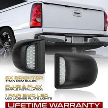 1 пара автомобилей 3528SMD светодиодный 6000K номерного знака свет лампы Набор для Chevy Silverado Avalanche 1999-2013