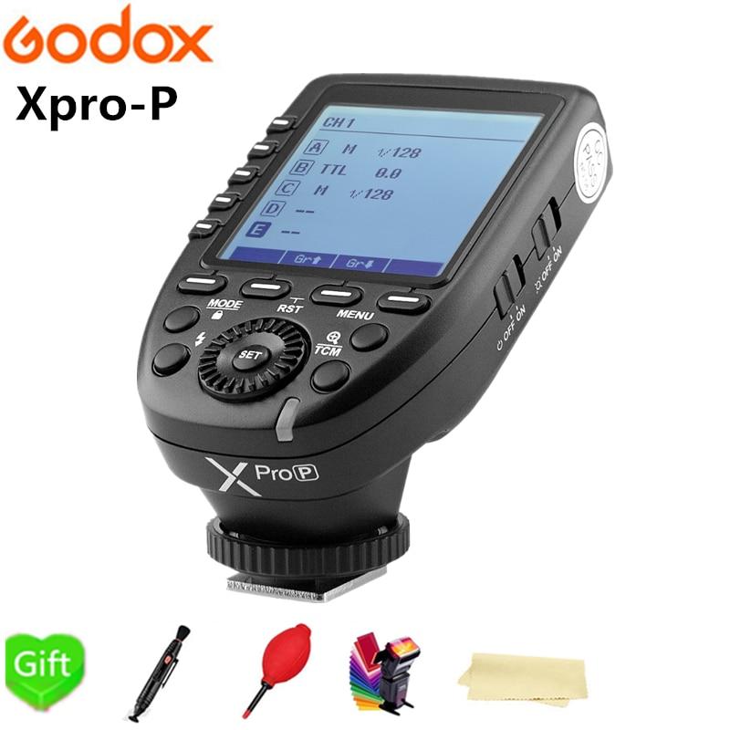 Godox Xpro-P Trigger Transmitter TTL 2.4G Wireless X system High-speed with Big LCD Screen for Pentax K-1/645Z/K70/KP Cameras in stock godox new xpro xpro p triggers ttl 2 4g wireless 1 8000s hss triggers for pentax k 1 k 3ii k70 k50 k s2 cameras