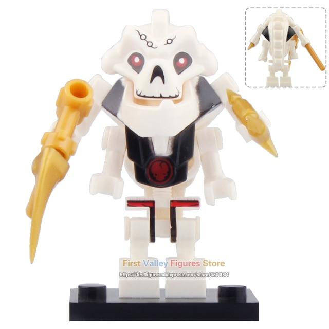 Único Ninjagoed Figura de Ação Samurai X Mestre Wu Garmadon Samukai com Arma Máscara Oni A089 Building Blocks Brinquedos para Crianças