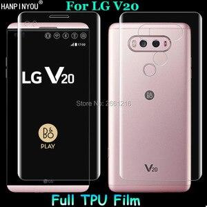 Для LG V20 H910/двойной H990DS 2 предмета = спереди + узкий полное покрытие от края до края Мягкие TPU пленка взрывозащищенные Экран протектор
