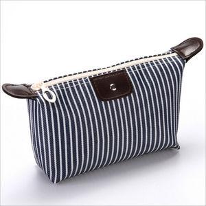 Multifunction Beauty Cosmetic Makeup Bag Organizer Zipper Handbag Travel Toiletry Waterproof Case Pouch Beige Black Blue Purple(China)