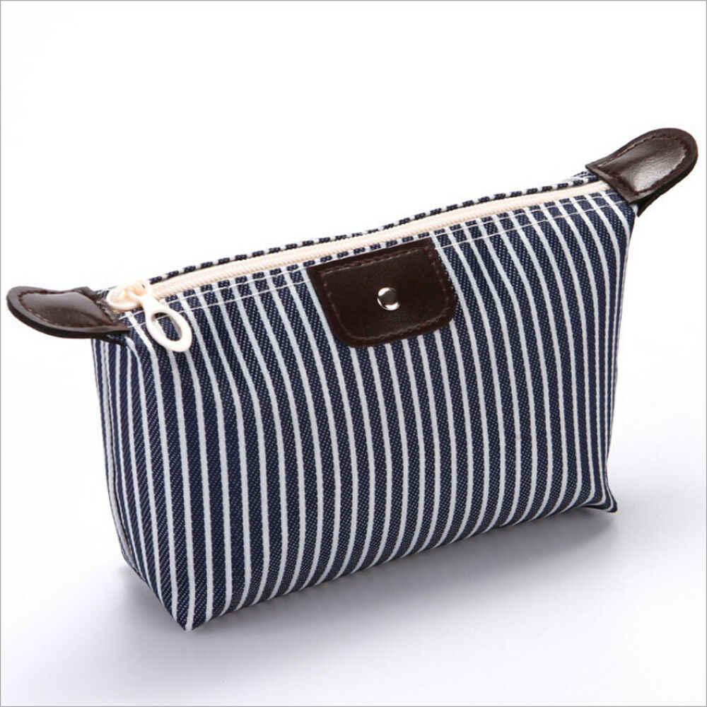Wielofunkcyjna kosmetyczka kosmetyczka z organizatorem Zipper torebka podróżna kosmetyczka wodoodporna obudowa etui beżowy czarny niebieski fioletowy