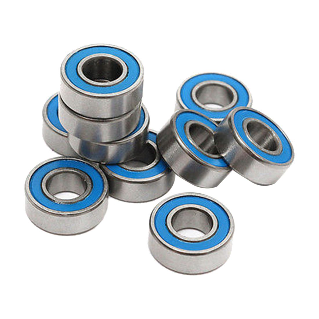 10Pcs MR115 2RS Ball Bearings 5x11x4mm For Traxxas Slash Rustler Stampede Wheel Cycling Accessories