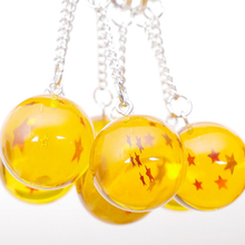 Dragon Ball Super Keychain 3D 1-7 Stars Key Chain Fashion Round Collection Toy Gift Ring yellow Star Jewelry Accessories