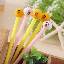 Cartoon Animals Gel Pen Black Ink Color High Quality School Student Stationery And Office Supplies Pen1PCS