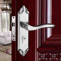 Door Lock Sets Furniture hardware indoor Stainless steel panel handle Handle lock Double tongue lock body