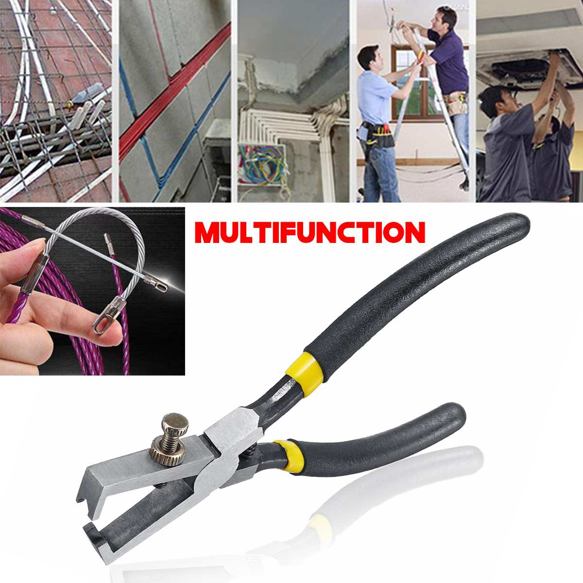 4Pcs Plastic Wire Cable Stripper Cutter Punch Down Crimper Plier Hand Tools