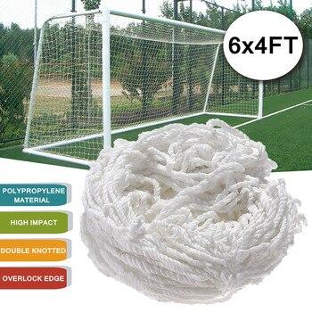 6x4 FT Weiß Volle Größe Fußball-fußball-torpfosten Net Für Outdoor Sport Training Spiel Polypropylen Hohe Auswirkungen doppel Verknotet