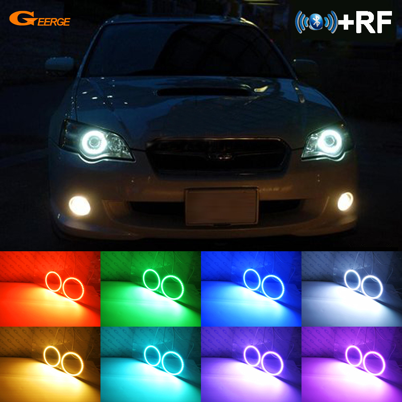 For Subaru Legacy 2007 2008 2009 Excellent RF Bluetooth Controller Multi Color Ultra bright RGB LED