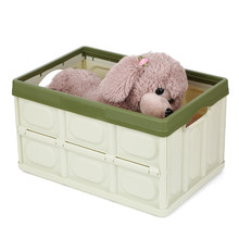 Multifunctional Storage Box Folding Crate Collapsible Containing Box Stackable Storage Bin Foldable Plastic Box Laundry Basket(China)