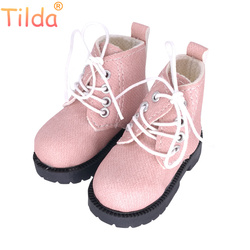 Tilda 7cm Length 1/3 BJD Doll Toy Shoes,Lovely Mini Real Life Leather Short Boots for Dolls High Quality Doll Accessories Toys