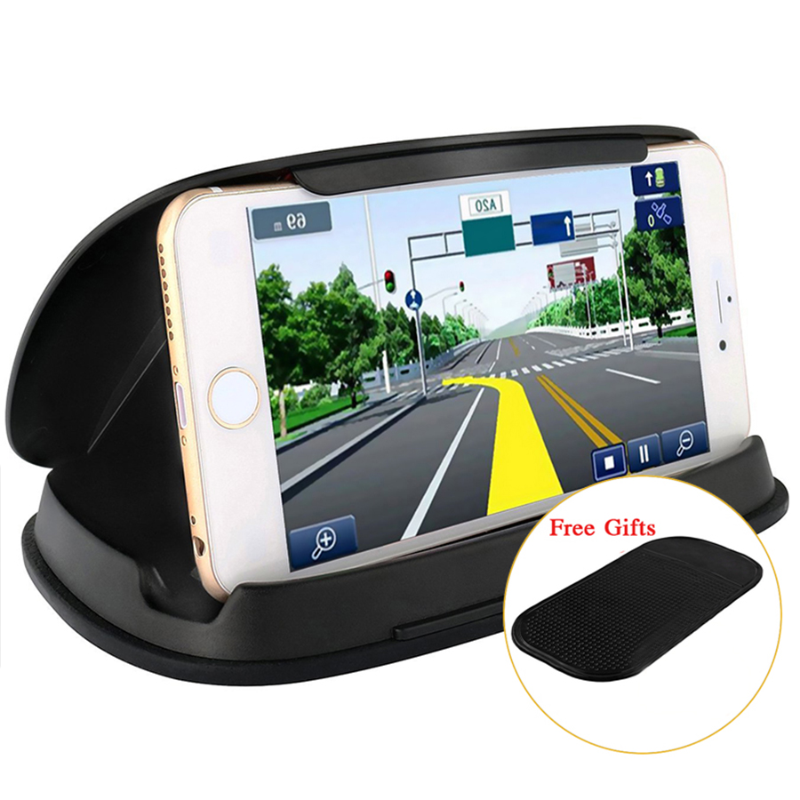 Universal Gps Holder Car Phone Holders For Navigation 3-6.8 Inch +Free Gift Anti-Slip Mat And Nome Phone Stand