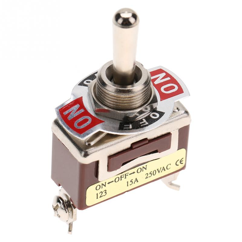 US $2 23 48% OFF ON OFF ON Momentary Toggle Switch SPDT Double Throw  Contacts Type 3 Pin 12mm 15A 250VAC Single Pole toggle switch  interruptor-in