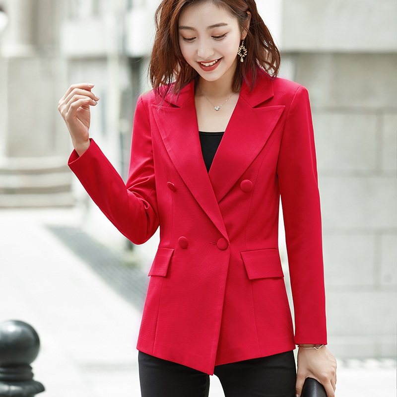 PEONFLY Spring Suits Women's Blazers Formal Office Work Blazer White Black Blazer Long Sleeve Slim Suit OL Coats Traje Terno