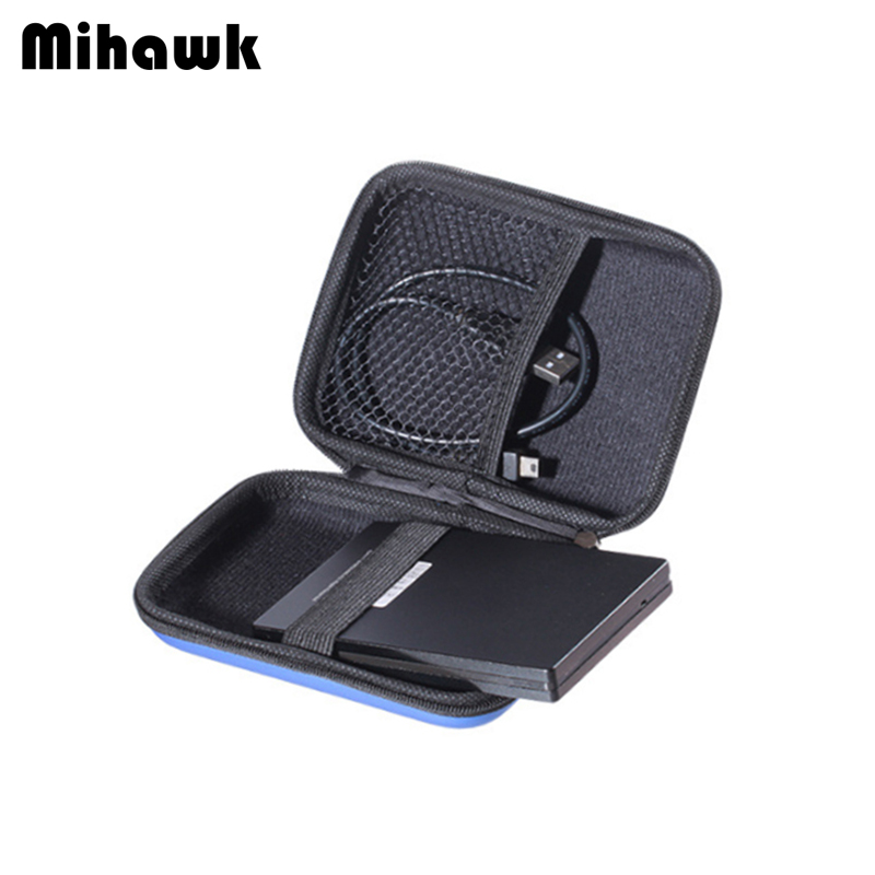 Mihawk Hard Drive Bags Portable HDD 2.5 Protection Hard Disk Case Power Bank USB Cable Charger External Container Pouch Supplies