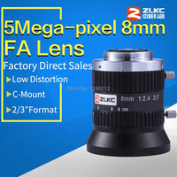 5 Mega Pixel 8mm 2/3 FA / Machine Vision fixed focal length lenses Industrial camera Mono Focal Manual Iris Lens C Mount