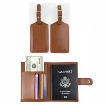 USA Passport Holder Cover Case RFID Blocking Travel Luggage Tags For Suitcase Travel ID Identification Labels Set 7178-50 недорого