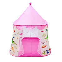 Portable Children's Toy Tent Ball Pool Princess Girl's Castle Play House Folding Baby Crib Netting For Kids Toy
