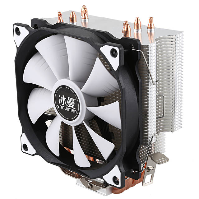 US $16 95 16% OFF|SNOWMAN CPU Cooler Master 5 Direct Contact Heatpipes  freeze Tower Cooling System CPU Cooling Fan with PWM Fans-in Fans & Cooling