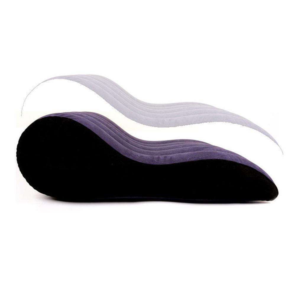 Sexy Inflatable Luxury Pillow Chair Sex Bed Sofa Pad Ramp Furniture