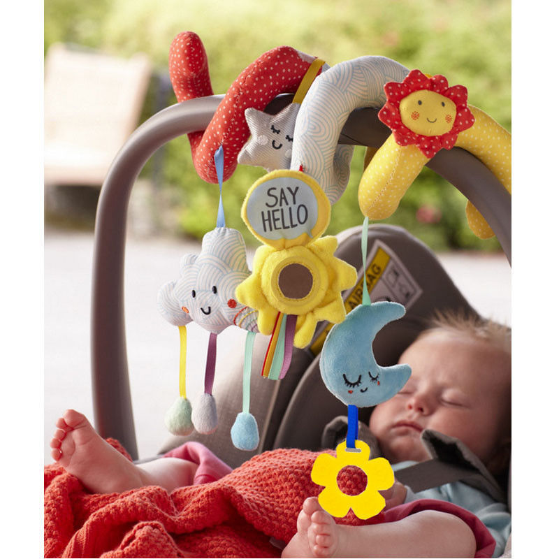 Toddler Cute Infant Baby Pram Hand Bell Baby Rattles Bed Stroller Soft Hanging Toy Animal Rattles