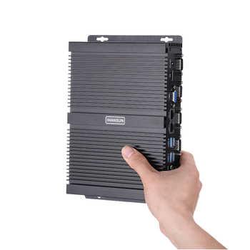 Fanless Industrial PC,Mini Computer,Windows 10 Pro/Linux ,Intel Core I5 3317U,[HUNSN MA03I],(1VGA/1HD/4USB2.0/4USB3.0/2LAN)