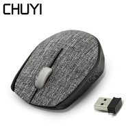 CHUYI Linen Fabric 2.4G Wireless Mouse Optical Computer USB Mause 1000 DPI Ergonomic Special Mini Mice For PC Laptop Desktop