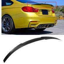 a5d2ceea5b8b Real Carbon Fiber Trunk Boot Lid Spoiler Wing Modified for BMW F82 M4  2015-2017 V Performance Car Style Wing Spoiler Lip