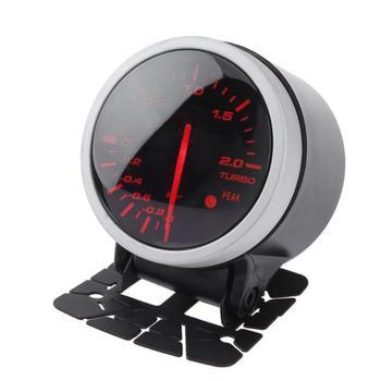 Универсальный 60 мм 2.5in алюминий сплав Гоночный Автомобиль Turbo Boost Gauge белый + красный свет метр с сенсор Авто интимные аксессуары