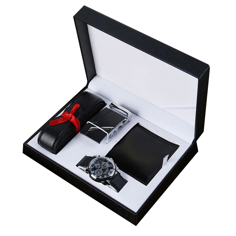 Watch Men Wallet Gift-Set Top-Brand Luxury for Valentine's-Day-Gift with Box Relojes title=