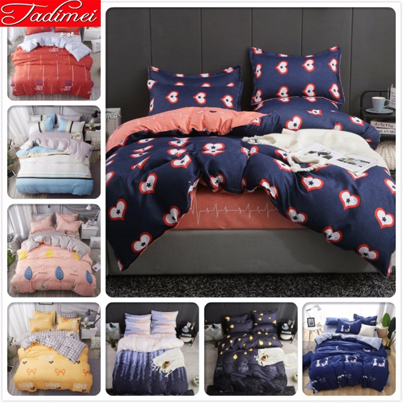 Lover Adult Double Size Duvet Cover 3/4 Pcs Bedding Set Kids Bed Linen Single Full Queen King Bedspreads 150x200 180x220 200x230