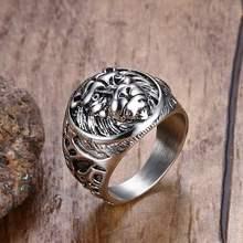 Мужские кольца в стиле панк винтажные из нержавеющей стали с