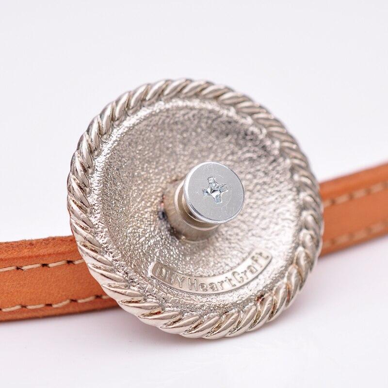 10X Antique Copper Flower Bridle Saddles Leathercraft Bag Belt Turquoise Concho