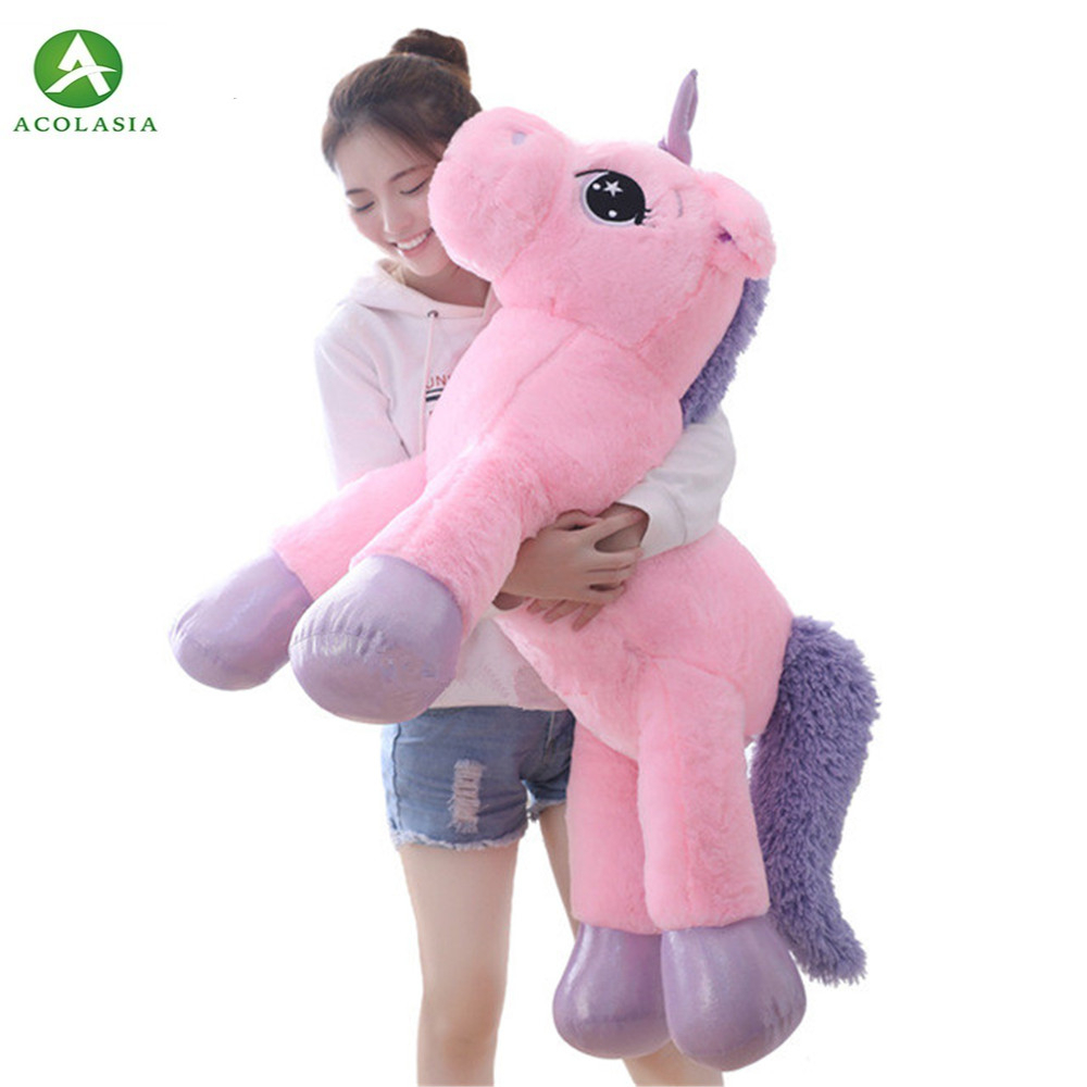 80 Cm Unicorn Stuffed Toy Plush Soft Toy Of Popular Cartoon Doll Toy Unicorn Stuffed Animal Toys For Children