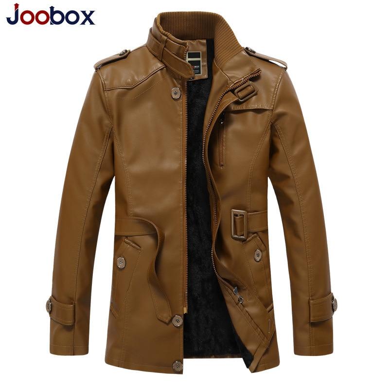 Men's Pu Leather Jaket Men Winter Motorcycle Leather Jacket Men's Clothing Long Biker Jacket Male Bomber Jacket Coat Plus Size