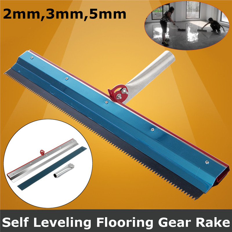 56x12cm Stainless Steel Notched Squeegee Epoxy Cement Painting Coating Self Leveling Flooring Gear Rake Construction Tools Part
