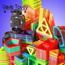 54 Unids / Set Large Triangle Square Brick Building Blocks Of Magnetic Toys Children Gift 168pcs set 3d diy kids creative educational magnetic building blocks toys triangle square hexagon wheels deluxe super brain set