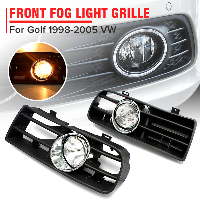 2Pcs FRONT LEFT RIGHT FOG LIGHT LAMP GRILLE GRILL SET for VW GOLF MK4 IV 1998-20052Pcs FRONT LEFT RIGHT FOG LIGHT LAMP GRILLE GRILL SET for VW GOLF MK4 IV 1998-2005