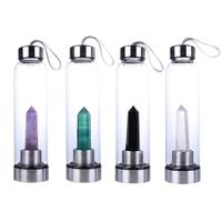 Creative Natural Crystal Water Bottle Portable Energy Healing Glass Cups