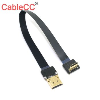 цена на Zihan FPV thin hdmi Flat cable Gold Plated Plug Male-Male HDMI Cable 1080p 3D for Multicopter Aerial Photography