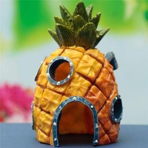 Fish Tank Aquarium Decor Voor SpongeBob & Squidward Huis Ananas Cartoon Huis Thuis Ornamenten Aquarium Accessoires Ananas(China)