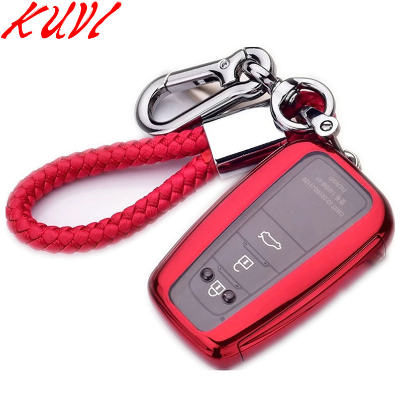 TPU Key Case For Toyota Camry CHR Corolla RAV4 Avalon Land Cruiser Prado Prius Remote Fob Cover 2 3 4 Button 2017 2018 2019