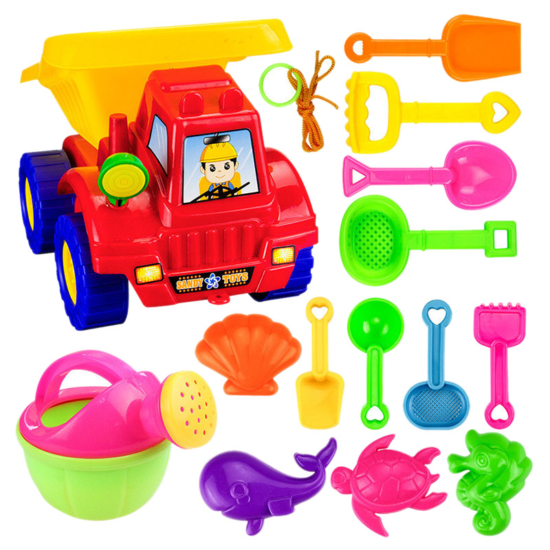 14Pcs / Set Summer Children'S Beach Toys Children'S Beach Toys Set Atv, Kettle, Shovel And Other Toy Sets
