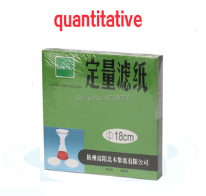 Image 1 - dia 18cm 100pcs/box Laboratory filter paper Round Quantitative filter paper for funnel using fast/medium/slow speed 1 box/pack